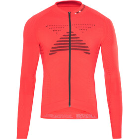 X-Bionic Effektor Power Fahrrad Trikot LS Full-Zip Herren flash red/black